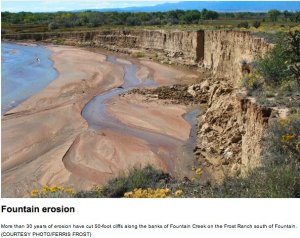 Fountain Creek erosion via The Pueblo Chieftain