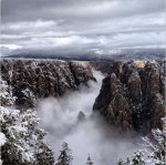 Fog-filled Black Canyon of the Gunnison