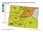 Statewide snowpack map March 1, 2013 via the NRCS