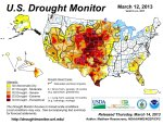 US Drought Monitor March 12, 2013