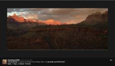 Grand Canyon sunset April 22, 2013 via the NPS