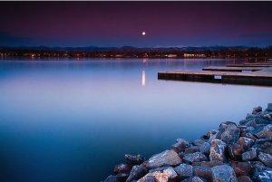 Sloans Lake at sunrise via Redbubble.com