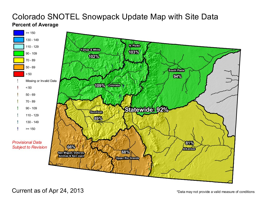 Snowpackdrought News Denver Water Sees A Drop In