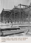 Ashland Reservoir roof construction via Denver Water