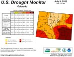 US Drought Monitor Colorado map July 9, 2013