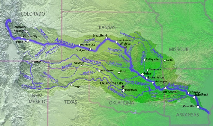 Arkansas River Basin via The Encyclopedia of Earth