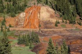 Bonita Mine acid mine drainage. Photo via the Animas River Stakeholders Group.