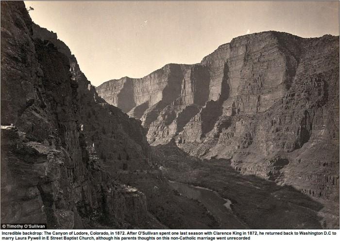 Lodore Canyon via Timothy O'Sullivan