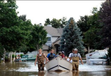 Boat rescue northern Colorado September 2013
