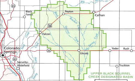 Upper Black Squirrel Creek Designated Groundwater Basin