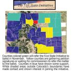 51st State Initiative Map via The Burlington Record