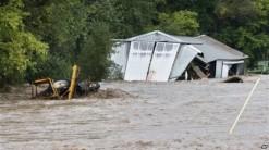 Flooding St. Vrain River September, 2013 via Voice of America