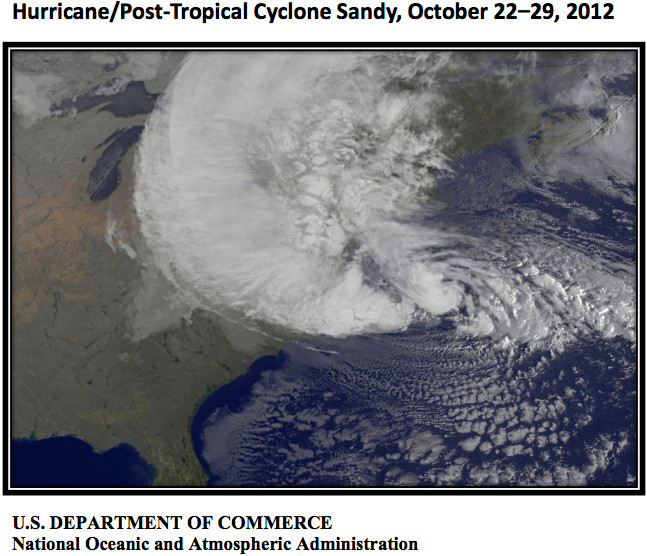 Hurricane Sandy via NOAA