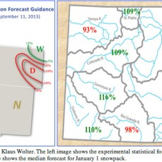Experimental forecasts from Klaus Wolter via the Colorado Climate Center