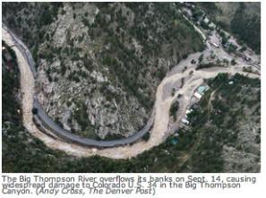 The Big Thompson River September 14, 2013 via The Denver Post