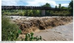 Fountain Creek swollen by stormwater via The Pueblo Chieftain