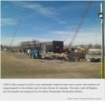 Metro Wastewater District Northern Plant construction November 2013 via the Denver Business Journal