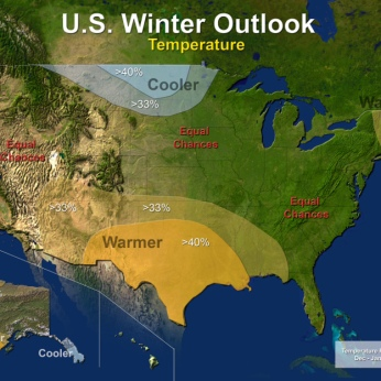 US Temperature Outlook December 2013 to February 2014 via NOAA