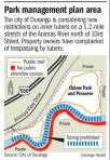 Proposed management plan area -- City of Durango via The Durango Herald