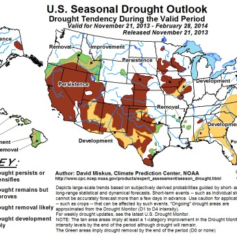 Seasonal Drought Forecast November 21, 2013 to February 28, 2014 via the Climate Prediction Center