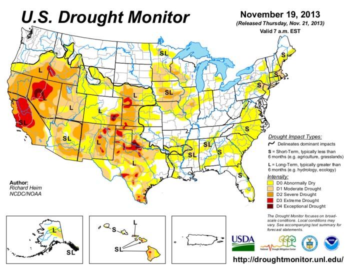 US Drought Monitor November 19, 2013