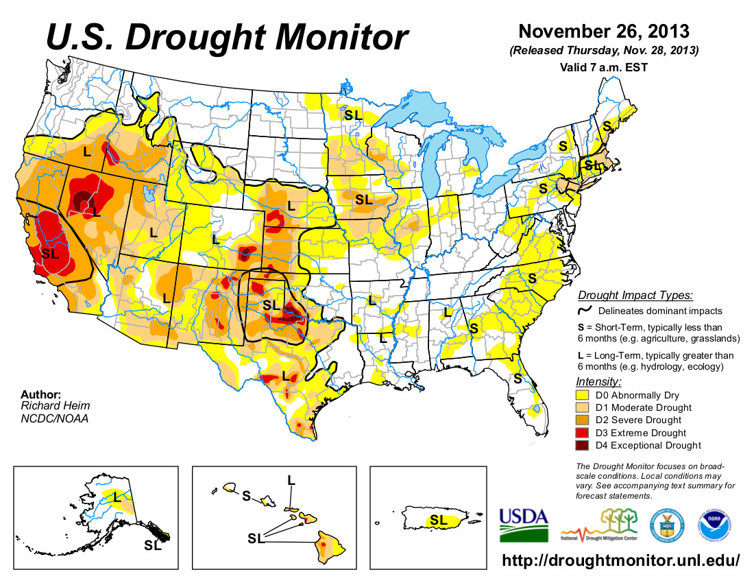 Drought Map 2013