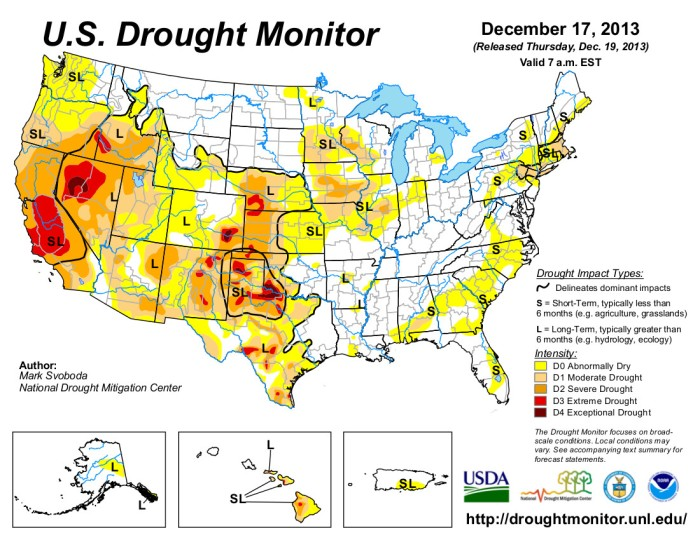 US Drought Monitor December 17, 2013