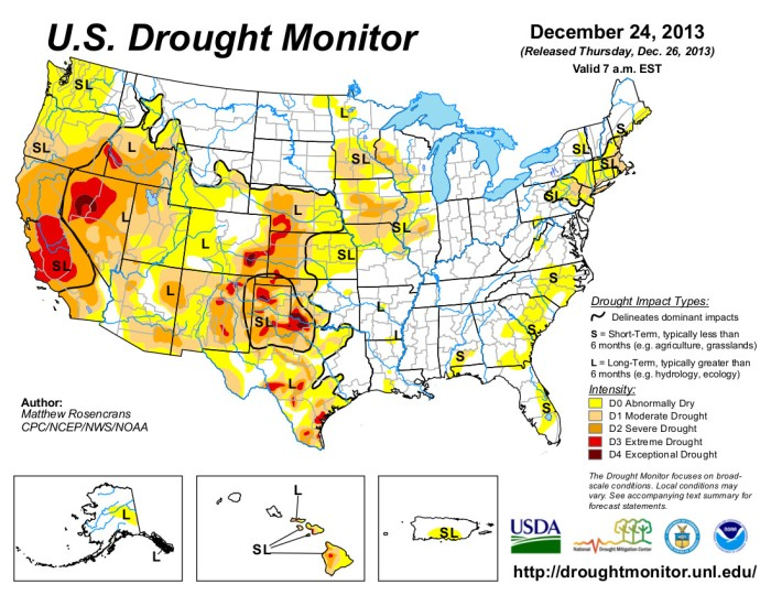 US Drought Monitor December 14,2013