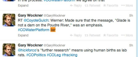 Gary Wockner calling Brian Werner a liar piggybacking on @CoyoteGulch