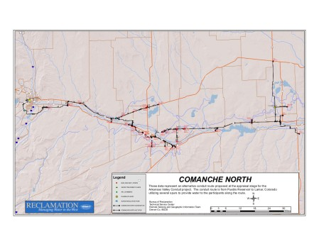 Arkansas Valley Conduit Comanche North route via Reclamation