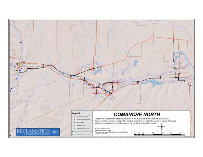 Arkansas Valley Conduit Comanche North route via Reclamation