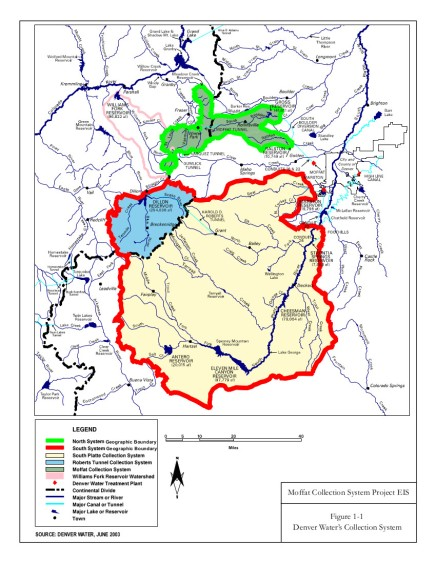 Denver Water's collection system via the USACE EIS