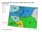 Statewide snowpack map February 20, 2014 via the NRCS