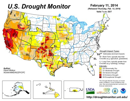 US Drought Monitor February 11, 2014