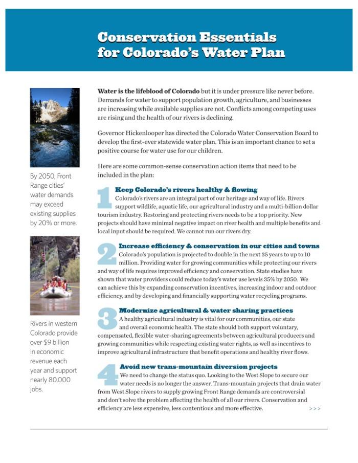 Colorado Water Plan Essentials FINAL_030414 page 1