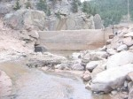 The dam at Longmont Reservoir March 18, 2014 via the City of Longmont