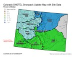 Statewide snowpack map March 6, 2014 via the NRCS