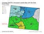 Statewide snowpack map as a percent of average March 19, 2014 via the NRCS