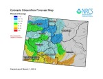 Statewide streamflow forecast by sub-basin March 9, 2014 via the NRCS