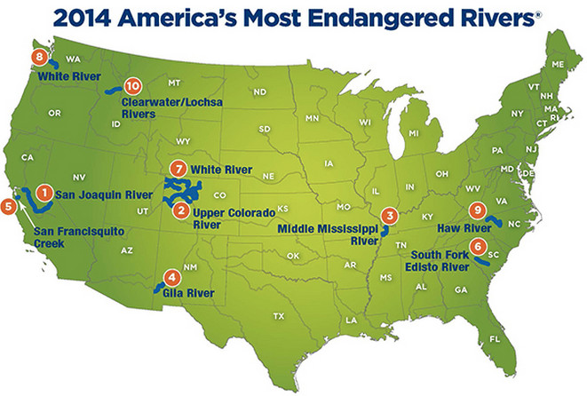 American Rivers 2014 Most Endangered Rivers