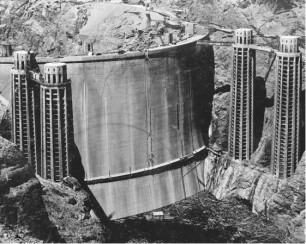 Rarely seen back of the Hoover Dam prior to first fill