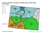 Statewide snowpack map April 24, 2014 via the NRCS