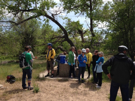 The meetup point for the Water Education Colorado urban water tour in 2014 at the confluence of Clear Creek and the South Platte River.
