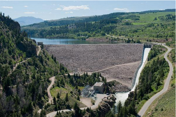 Green Mountain Dam via the Bureau of Reclamation