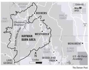 Hayman burn area via The Denver Post