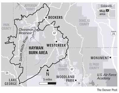 Hayman burn area via The Denver Post