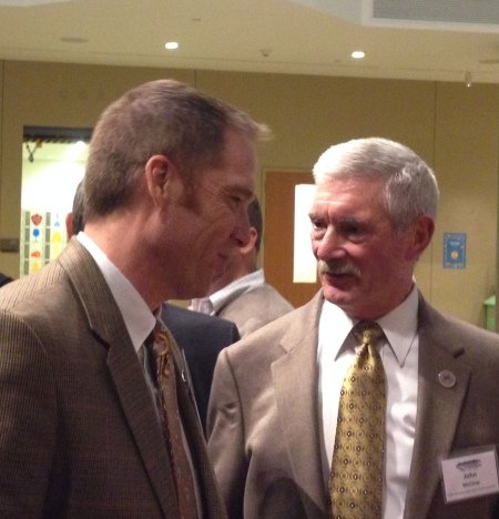 Sean Cronin and John McClow at the 2014 CFWE President's Award Reception