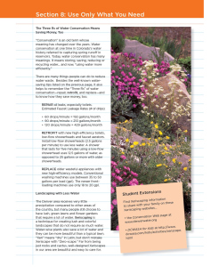 Denver Water's Teacher Resource Packet illustrates the three Rs of water conservation.