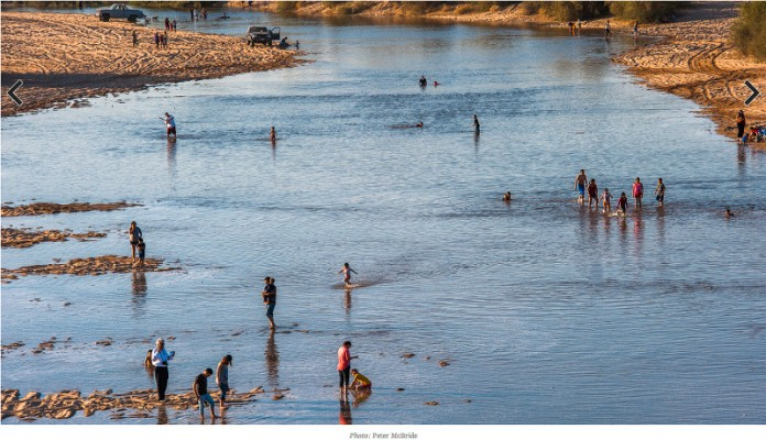 A celebration of the return of water to the Delta near San Luis Rio Colorado
