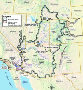 Colorado River Basin including out of basin demands via USBR